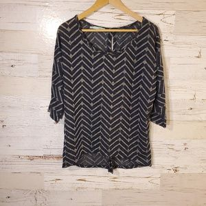 Maurices metallic open back sweater